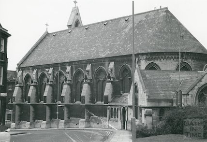 St. Paul's Church (now Holy Trinity), Chapel Row, Bath 1968
