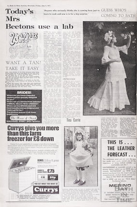 Laura Ashley to open her third shop in Bath, July 2 1971