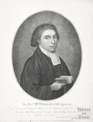 Engraving Revd. Mr William Jay aged 19, October 4th 1788