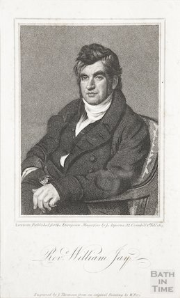 Engraving Revd. William. Jay, 1st February 1819