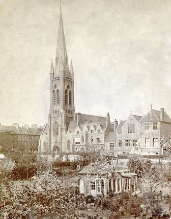 St. John's Roman Catholic Church from South West c.1880s
