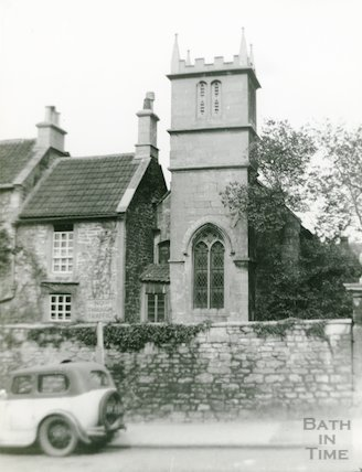 St Mary Magdelene Chapel, Holloway (view showing tower) c.1950s