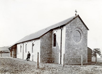 St. Barnabas Church, Twerton (temporary building exterior) c.1890