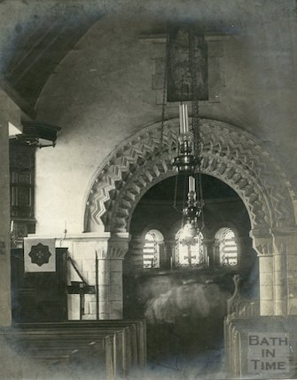 Interior of St. Mary Magdalene Church, Langridge 1897