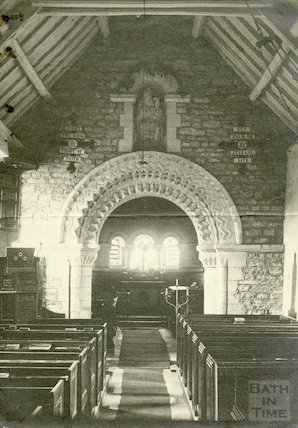 Interior of St. Mary Magdalene Church, Langridge c.1920