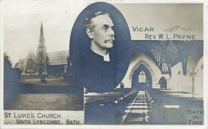 St. Luke's Church, South Lyncombe and Vicar Rev. W.L. Payne