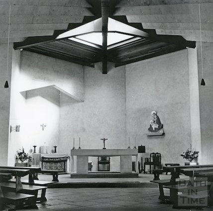 Interior of the Catholic Church of St. Peter and Paul, Entry Hill, Combe Down 1966