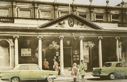 King's and Queen's Baths Entrance, Bath c.1960