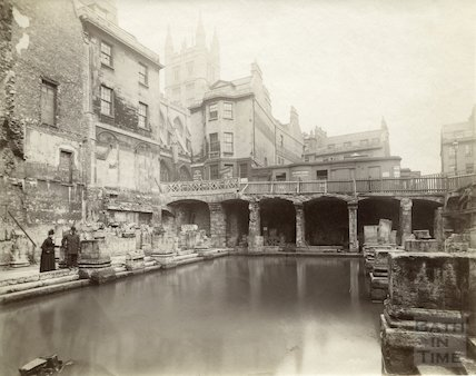 Roman Baths North East View of Great Roman Bath, c.1890s