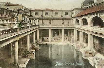 Roman Bath looking West, c.1912