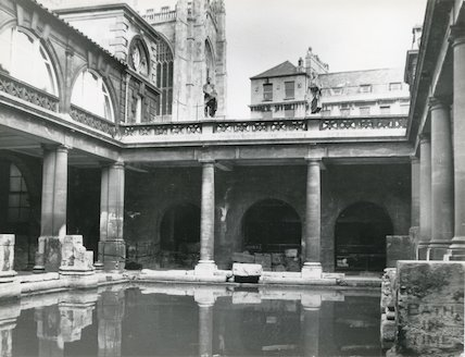 Great Roman Bath looking North West, c.1930s?