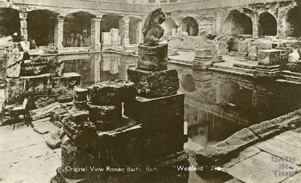 Roman Baths - view during excavations c. 1890