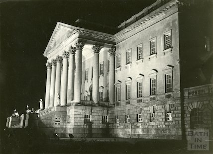 Prior Park main front, floodlit, 23 June 1937