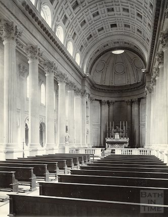 Prior Park. Interior of St Paul's chapel. C 1890.