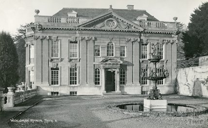 Widcombe Manor South Front, drive and fountain, c.1930