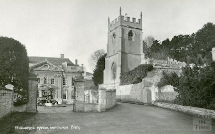Widcombe Manor, view from the roadway c.1930