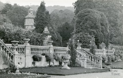 Widcombe Manor, the gardens and dovecote, c.1930