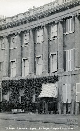 Sir Isaac Pitman's House, 17 Royal Crescent c.1930