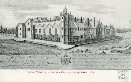 Lacock Nunnery from an engraving by Buck 1732