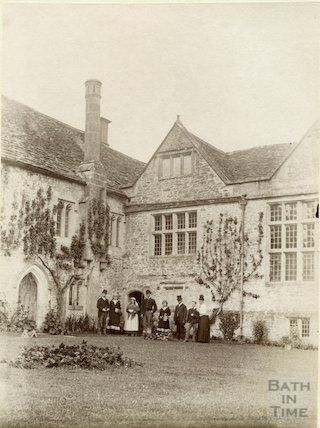 South Wraxall Manor. Part of courtyard. c.1885