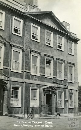 House of Fanny Burney, 14 South Parade c.1930