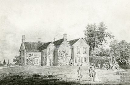 Kelston Rectory. Photograph of a watercolour by T. Girtin. 1755-1802