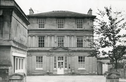 Apthorp Building being reconstructed, Weston Park, Bath c.1960s