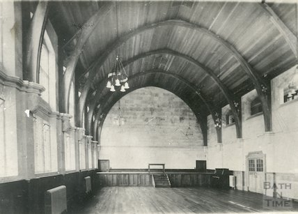Interior of Great Hall, Extension to Royal School, Bath c.1920