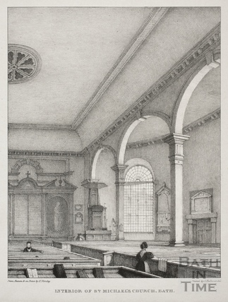 Interior of St. Michael's Church, Bath c.1833