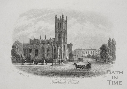 Bathwick Church, Bath 1850