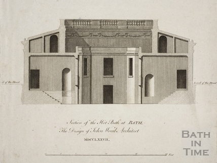 Section of the Hot Bath at Bath, the Design of John Wood Architect MDCCLXXVII 1777