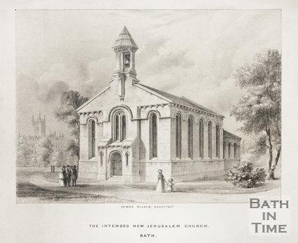 The intended New Jerusalem Church, Bath c.1843