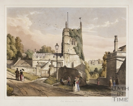 Widcombe Old Church, Bath 1850