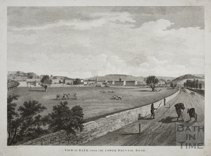 View of Bath from the Lower Bristol Road 1801