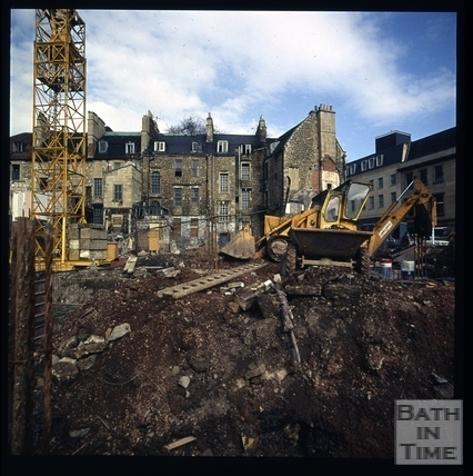 Snowdon. Rear of Kingsmead Square, Bath 1972