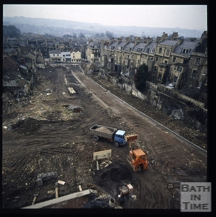 Snowdon. View along Ballance Street, Bath 1972