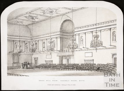 Grand Ball Room, Assembly Rooms, Bath c.1840