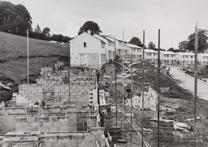 Development of steeply-sloping site - Freeview Road, Twerton, Bath 1950