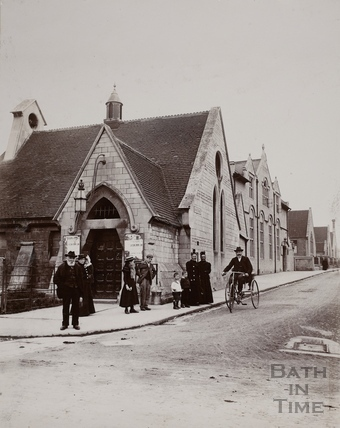 St. Peter's Gymnasium, formerly The School Church, Bath c.1890