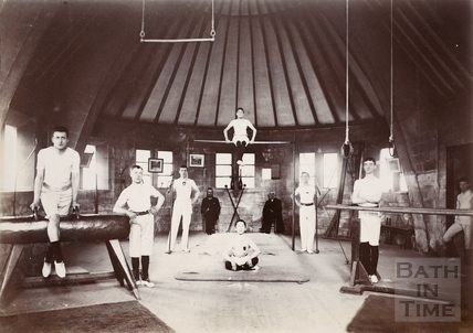 St. Peter's Gym interior, Twerton, Bath c.1890