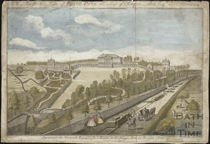 A Perspective View of Prior Park, the Seat of Ralph Allen Esq., near Bath 1754