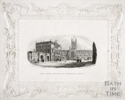 The Abbey Church and Guildhall, Bath c.1837