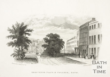 Grosvenor Place and College, Bath c.1845