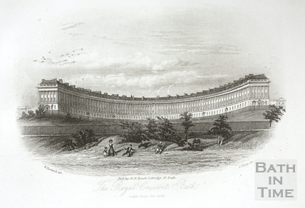 The Royal Crescent, Bath. Taken from the Park 1844