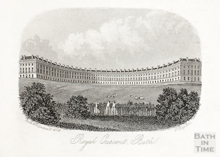 The Royal Crescent, Bath 1863