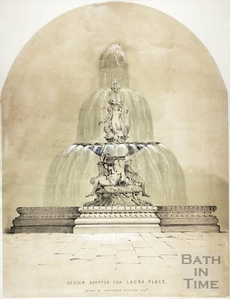 Fountain design adopted for Laura Place, Bath 1851