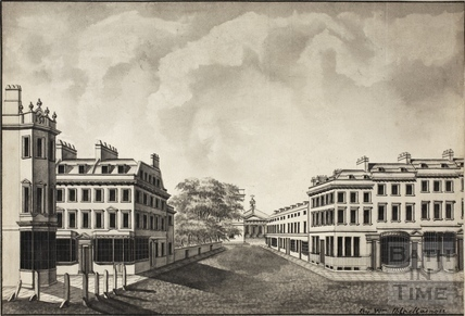 A view of Quiet Street, part of Milsom Street and part of Old Bond Street, Bath 1785