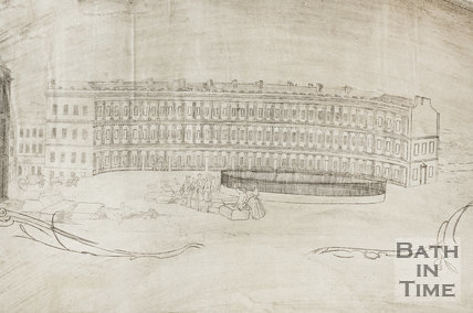 Fan view of the Circus, Bath 1759 - detail