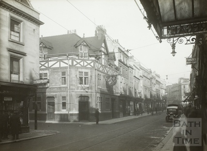 Southgate Street, Bath. West side from Corn Street to Stall Street 1932