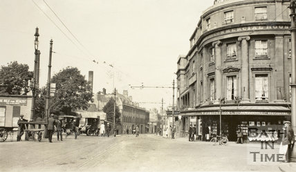 Dorchester Street from Railway Place, Bath c.1915